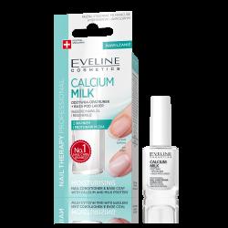 Eveline Nail Therapy Professional - CALCIUM MILK, odżywka-opatrunek do paznokci z wapniem i proteinami mleka, poj. 12 ml