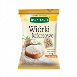 Bakalland - wiórki kokosowe, masa netto: 100 g