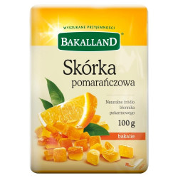 Bakalland - skórka pomarańczowa, masa netto: 100 g