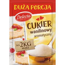 Delecta - Cukier wanilinowy, masa netto: 30g