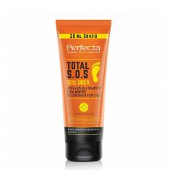 """Perfecta Body TOTAL S.O.S. - """"Wygładzające skarpetki"""" Krem-kompres do szorstkich stóp i pięt 10% UREA, poj. 120 ml"""