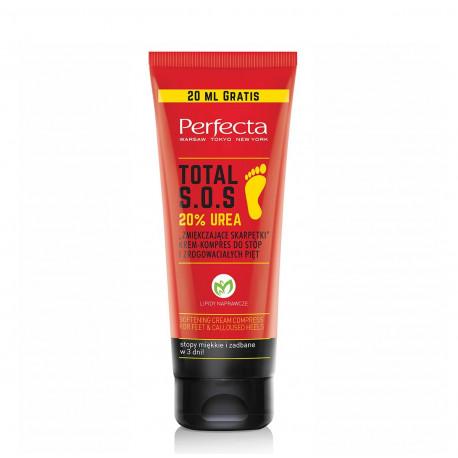 """Perfecta Body TOTAL S.O.S. - """"Zmiękczające skarpetki"""" krem-kompres do stóp i zrogowaciałych pięt 20% UREA, poj. 120 ml"""