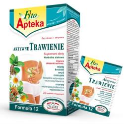 Aktywne Trawienie Formuła 12 - herbata ziołowa, suplement diety, zawartość: 20 saszetek w kopertach aluminiowych x 2 g