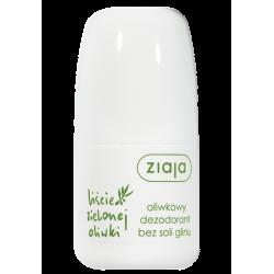 Ziaja Liście Zielonej Oliwki - oliwkowy dezodorant bez soli glinu, poj. 60 ml