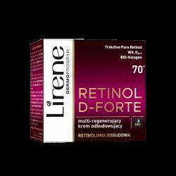 Lirene Retinol D-Forte - Multi-regenerujący krem odbudowujący 70+ na noc, poj. 50 ml