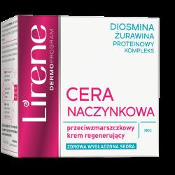 Lirene Cera Naczynkowa - Przeciwzmarszczkowy krem regenerujący do cery naczynkowej dojrzałej na noc, poj. 50 ml
