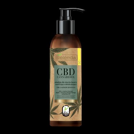 Bielenda CBD Cannabidiol - emulsja do mycia twarzy z CBD z konopi siewnych – cera mieszana tłusta, poj. 150 ml