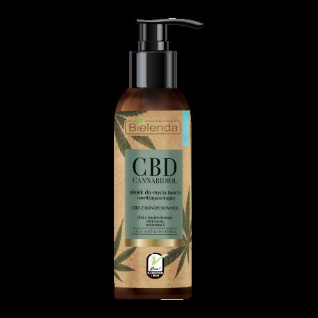 Bielenda CBD Cannabidiol - olejek do mycia twarzy z CBD z konopi siewnych – cera sucha / wrażliwa, poj. 140 ml