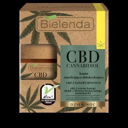 Bielenda CBD Cannabidiol - krem nawilżająco-detoksykujący z CBD z konopi siewnych cera mieszana / tłusta, poj. 50 ml