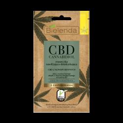 Bielenda CBD Cannabidiol - maseczka nawilżająco-detoksykująca z CBD z konopi siewnych cera mieszana / tłusta, poj. 8 g