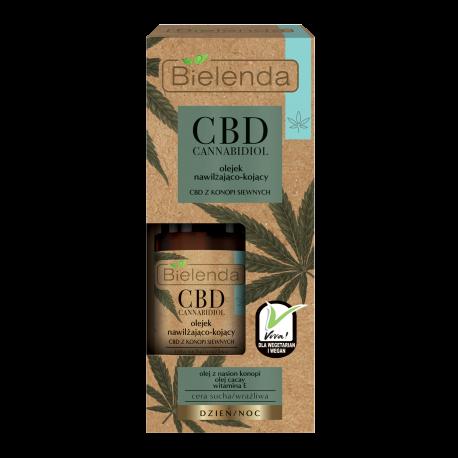 Bielenda CBD Cannabidiol - olejek nawilżająco-kojący z CBD z konopi siewnych cera sucha / wrażliwa, poj. 15 ml