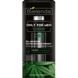 Bielenda ONLY FOR MEN, CANNABIS CBD - żel-booster do pielęgnacji twarzy nawilżająco – energetyzujący, poj. 30 ml