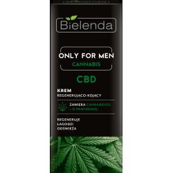 Bielenda ONLY FOR MEN, CANNABIS CBD - krem regenerująco – kojący, poj. 50 ml
