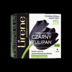 Lirene Czarny Tulipan TWARZ - krem-serum przeciwzmarszczkowe na dzień 50+ ELASTYCZNOŚĆ, poj. 50 ml