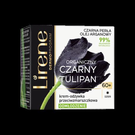 Lirene Czarny Tulipan TWARZ - krem-odżywka przeciwzmarszczkowa na dzień 60+ ODMŁODZENIE, poj. 50 ml