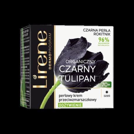 Lirene Czarny Tulipan TWARZ - perłowy krem przeciwzmarszczkowy na dzień 70+ ODŻYWIENIE, poj. 50 ml