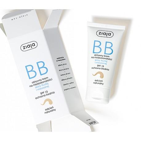 Krem BB do skóry tłustej i mieszanej odcień naturalny, poj. 50 ml.