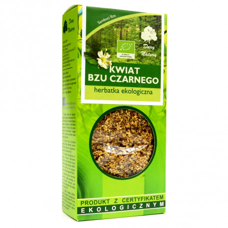 Dary Natury - czarny bez, kwiat EKO, herbatka ekologiczna, masa netto: 50 g