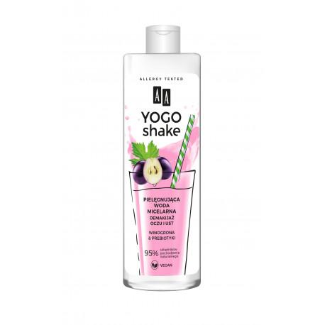 AA YOGO SHAKE - pielęgnująca woda micelarna, Demakijaż oczu i ust, WINOGRONA & PREBIOTYKI, poj. 500 ml