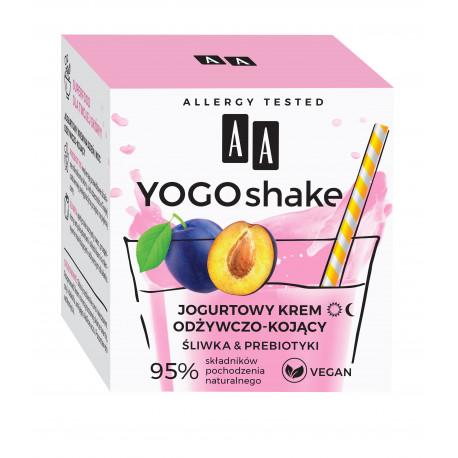 AA YOGO SHAKE - krem odżywczo-kojący, Jogurtowy, ŚLIWKA & PREBIOTYKI, poj. 50 ml