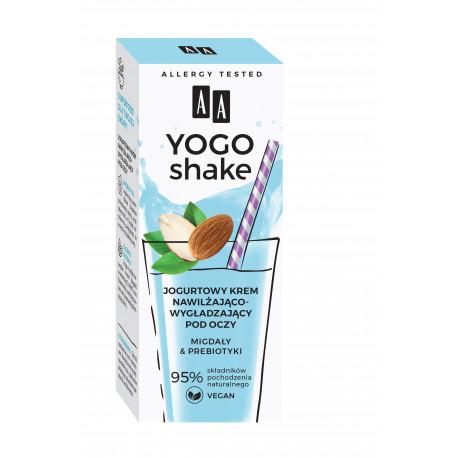 AA YOGO SHAKE - krem pod oczy nawilżająco-wygładzający, Jogurtowy, MIGDAŁY & PREBIOTYKI, poj. 15 ml