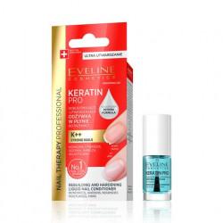 Eveline Nail Therapy Professional - KERATIN PRO, odbudowujący-utwardzająca odżywka w płynie do paznokci, poj. 5 ml