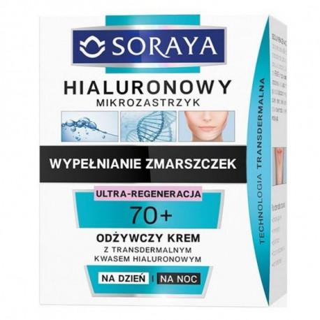 Soraya Hialuronowy Mikrozastrzyk - odbudowujący krem na dzień i na noc 70+, poj. 50 ml