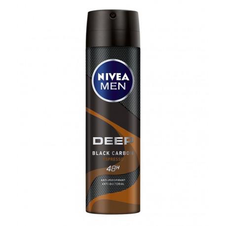 NIVEA Men Deep Black Carbon Espresso 48 h - antyperspirant do ciała w aerozolu, poj. 150 ml