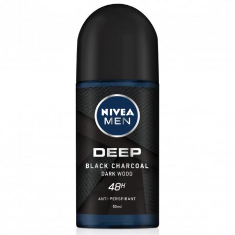 NIVEA Men Deep Black Carbon Darkwood 48 h - antyperspirant w kulce dla mężczyzna, poj. 50 ml
