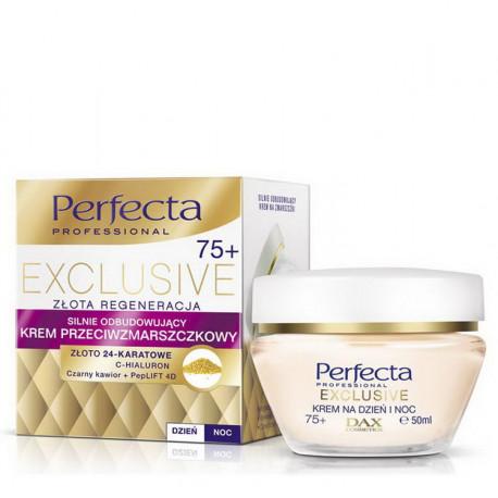 Perfecta Exclusive - silnie odbudowujący krem przeciwzmarszczkowy 75+, na dzień i na noc, poj. 50 ml