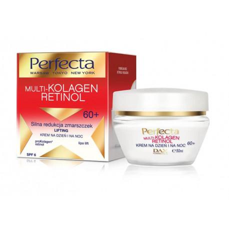 Perfecta Multi-kolagen Retinol - krem na dzień i na noc 60+, silna redukcja zmarszczek, lifting, poj. 50 ml