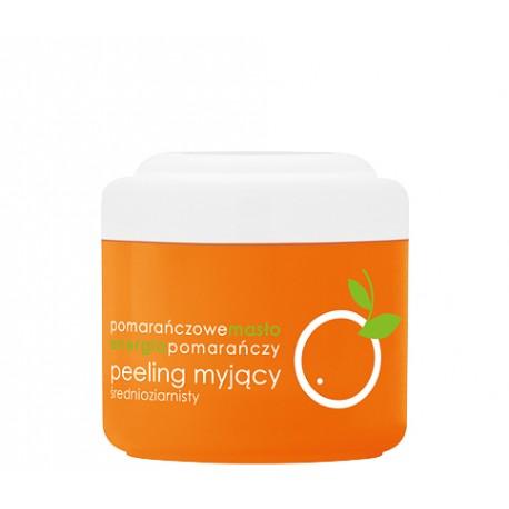 Peeling myjący, pomarańczowy, średnioziarnisty, poj. 200 ml.