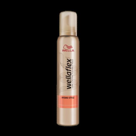 Wella Wellaflex Hydro Style - pianka do układania włosów Extra Strong Hold 4/5, poj. 200 ml
