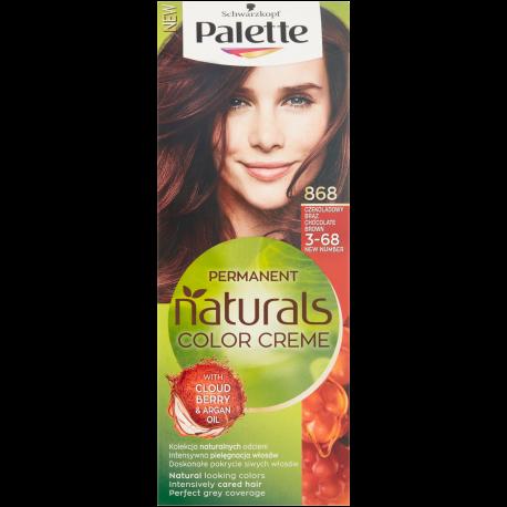 Palette Permanent Natural Colors Creme - farba do włosów, 868 Czekoladowy Brąz