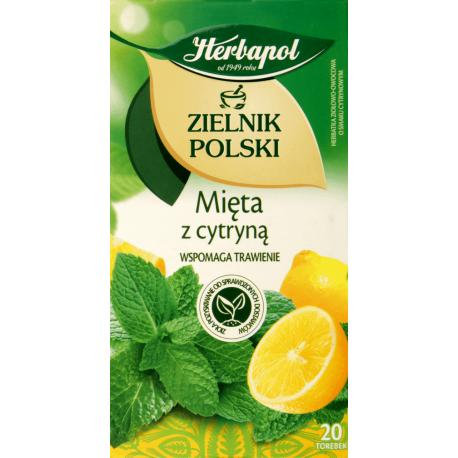 Zielnik Polski - Mięta z Cytryną, herbata ziołowo-owocowa, 20 saszetek x 1,5 g