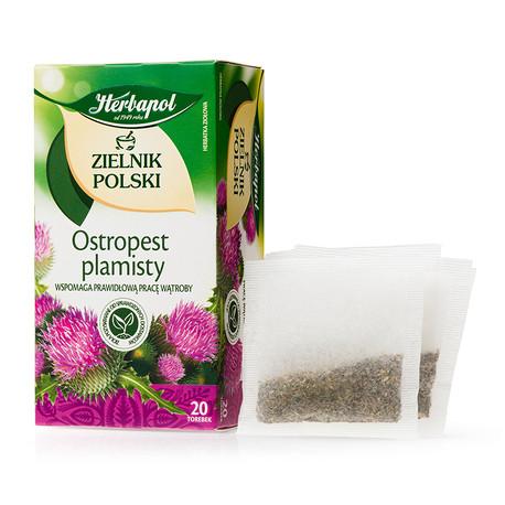 Zielnik Polski - Ostropest plamisty, herbatka ziołowa, 20 saszetek x 2 g