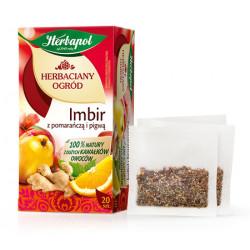 Herbaciany Ogród - Imbir z pomarańczą i pigwą, herbata owocowo-ziołowa, poj. 50 g (20 saszetek x 2,5 g)