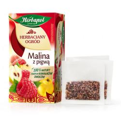 Herbaciany Ogród - Malina z pigwą, herbatka owocowo-ziołowa, poj. 54 g (20 saszetek x 2,7 g)