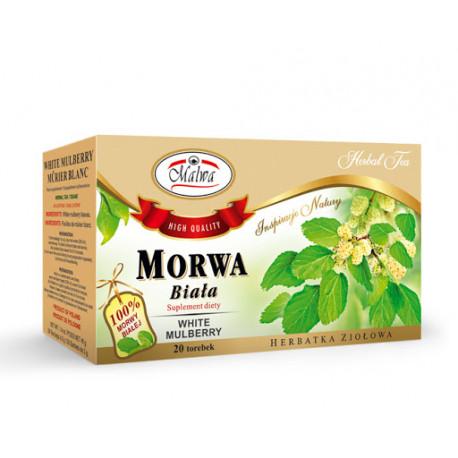Malwa - morwa biała, herbata ziołowa, suplement diety, 20 saszetek x 2 g