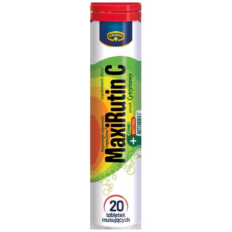 Kruger MaxiRutin C - tabletki musujące o smaku cytrynowym, 20 szt.