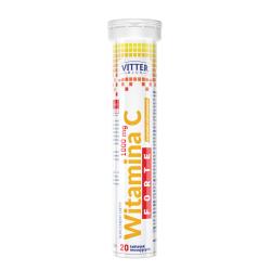 Vitter Blue - Witamina C 1000 mg FORTE, tabletki musujące o smaku cytrynowym, 20 szt.