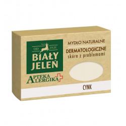 Biały Jeleń Apteka Alergika - dermatologiczne mydło naturalne z cynkiem, poj. 125 g