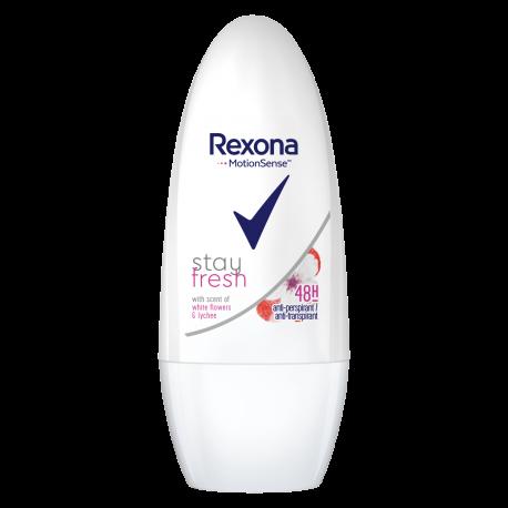 Rexona Stay fresh - White flowers & lychee, antyperspirant w kulce dla kobiet, poj. 50 ml