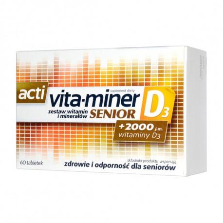Acti Vita-miner Senior D3 - suplement diety, tabletki, 60 szt.