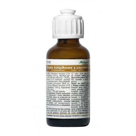 Krople żołądkowe z papaweryna, (Fortestomachicae) płyn, poj. 35 ml