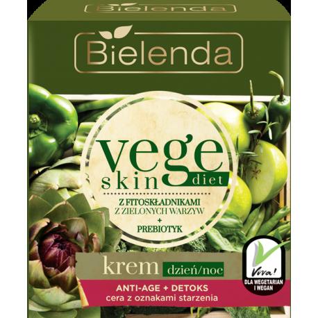 Bielenda Vege Skin Diet - Krem ANTI-AGE + DETOKS cera z oznakami starzenia, poj. 50 ml
