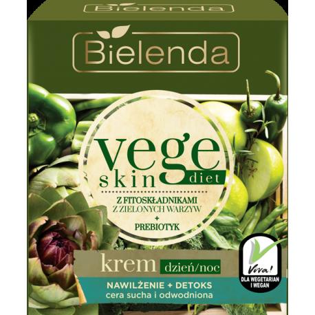 Bielenda Vege Skin Diet - Krem NAWILŻENIE + DETOKS cera sucha i wrażliwa, poj. 50 ml
