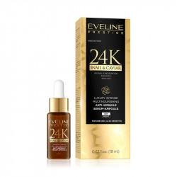 Eveline Prestige 24K Snail & Caviar - luksusowe multiodżywcze serum-ampułka, poj. 18 ml
