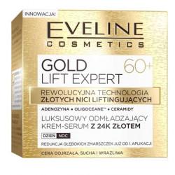 Eveline Gold Lift Expert - luksusowy odmładzający krem-serum z 24k złotem 60+, na dzień i na noc, poj. 50 ml
