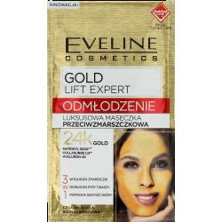 Eveline Gold Lift Expert - luksusowa maseczka przeciwzmarszczkowa 3w1, poj. 7 ml